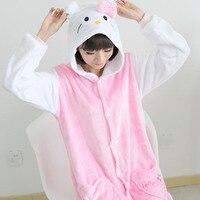 Adult Onesie Costume Pajamas Cosplay Cartoon Animal Onesies Sleepwear Cat Minions Stitch Bear Pikachu Unicorn Costumes