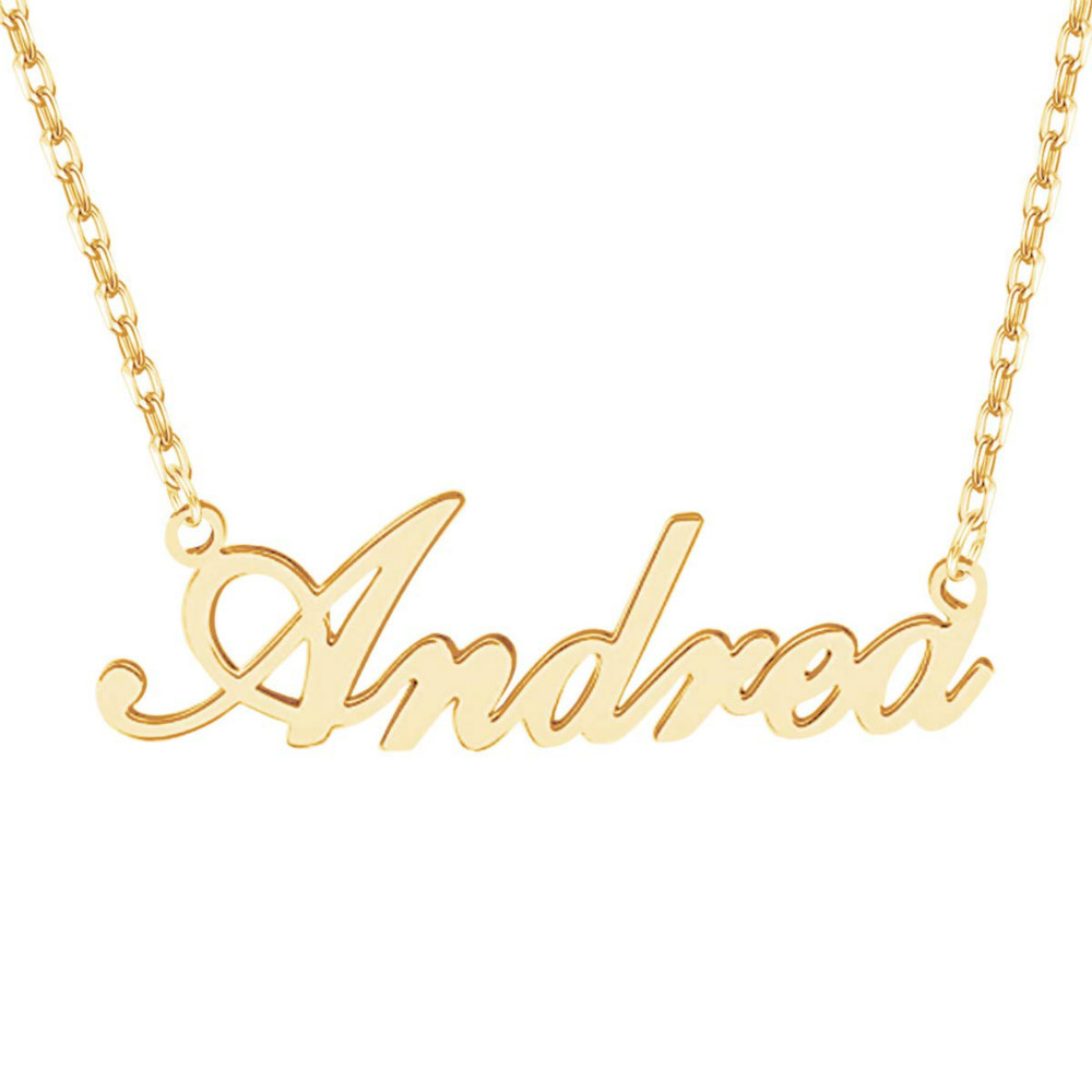 HIYONG Custom Name Font Necklace Personalized Gold Silver Custom Nameplate Necklace Charm Jewelry Gift for Women Best Gifts in Choker Necklaces from Jewelry Accessories