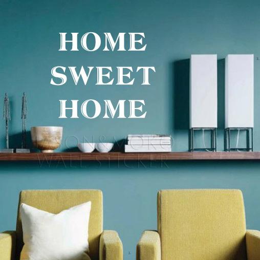 Home Sweet Englisch Letters Wand Aufkleber Fr Sofa Im Wohnzimmer Entfernbare Vinyl Wandbild Tapete