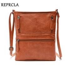REPRCLA Vintage Crossbody Bags for Women 2018 Messenger Bags High Quality Leather Handbag Female Shoulder Bag