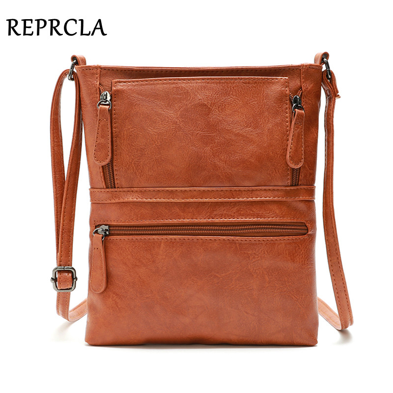 REPRCLA Vintage Crossbody Bags For Women 2019 Messenger Bags High Quality Leather Handbag Female Shoulder Bag Bolsa Feminina