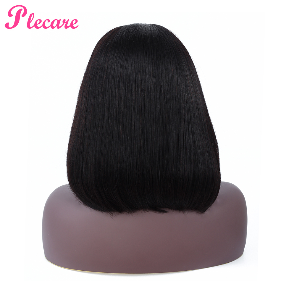 Plecare Bob Lace Front Wigs Brazilian Straight Lace Frontal Human Hair Wigs For Black Women 13