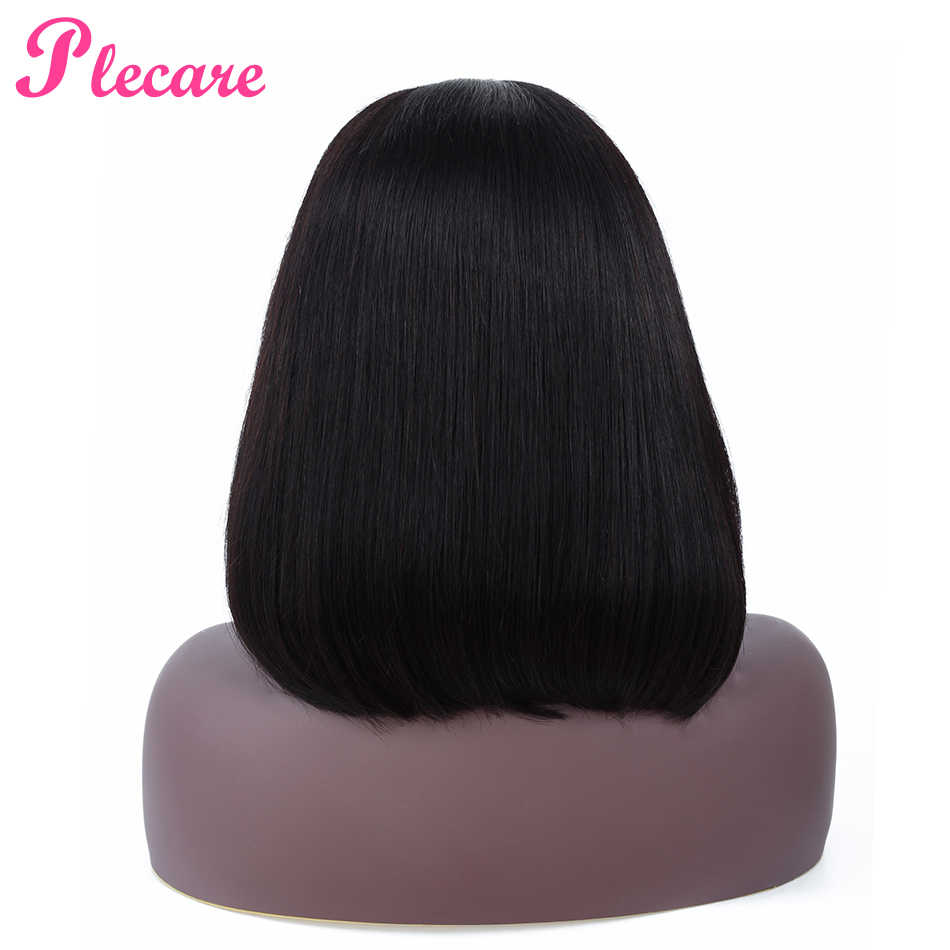 Plecare Bob Lace Front Wigs Brazilian Straight Lace Frontal Human Hair Wigs For Black Women 13*4 Wig Natural Color Non Remy
