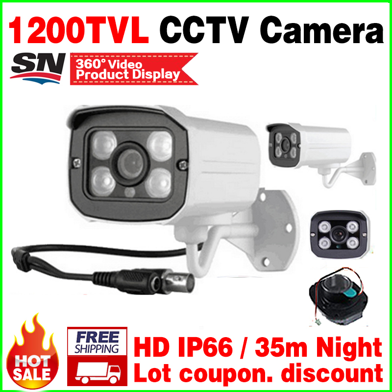 Hot Sale!1/3cmos 1200TVL Waterproof IP66 Outdoor Security Cctv cvbs Hd cctv Camera IR-CUT Infrared Night Vision security vidicon big sale 1 3cmos 1200tvl cctv hd dome camera surveillance indoor 22led infrared ir cut night vision monitoring security vidicon