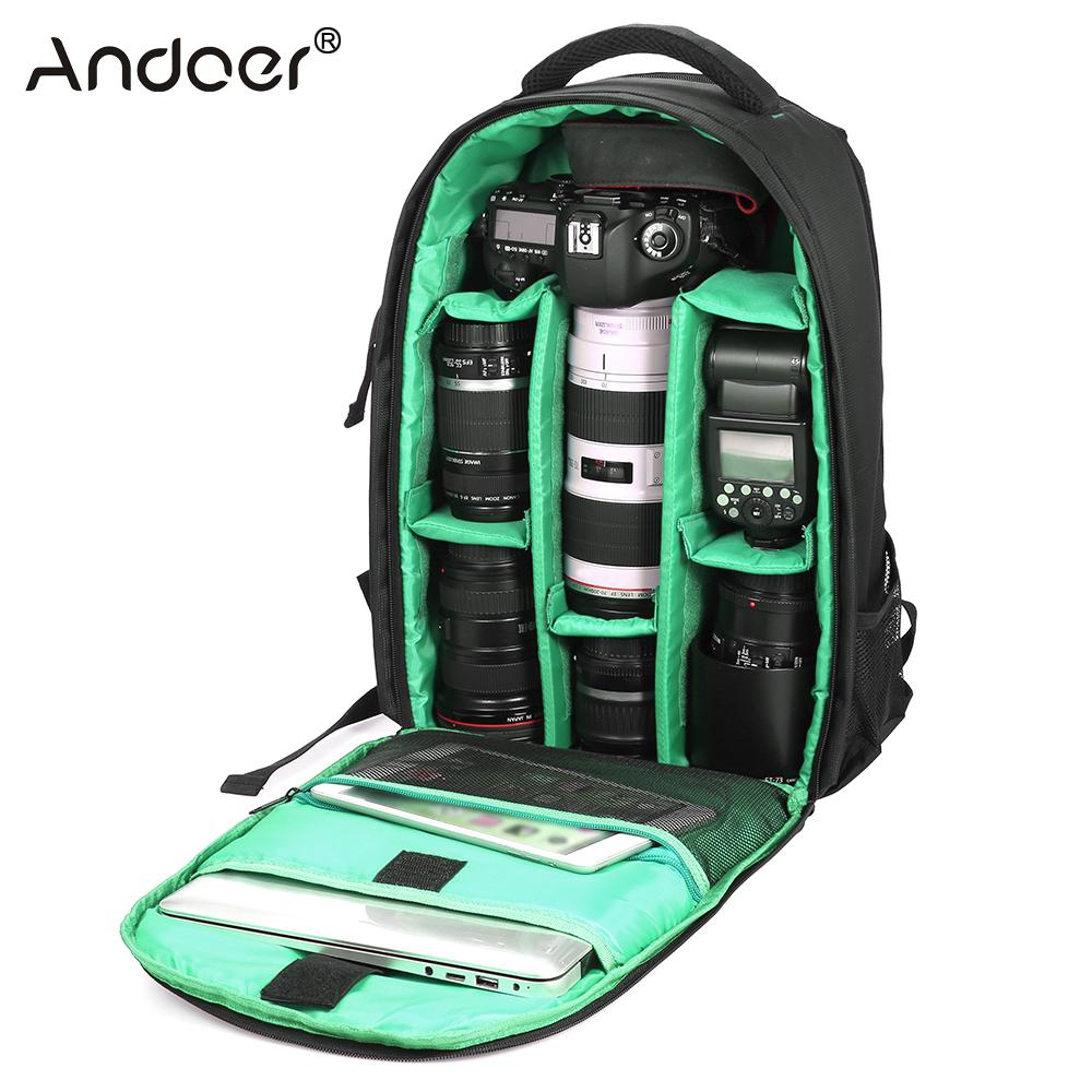Outdoor Wear-resisting Water-resistant DSLR Digital Camera Bag Backpack Multi-functional Breathable Photography Camera Bags(China)