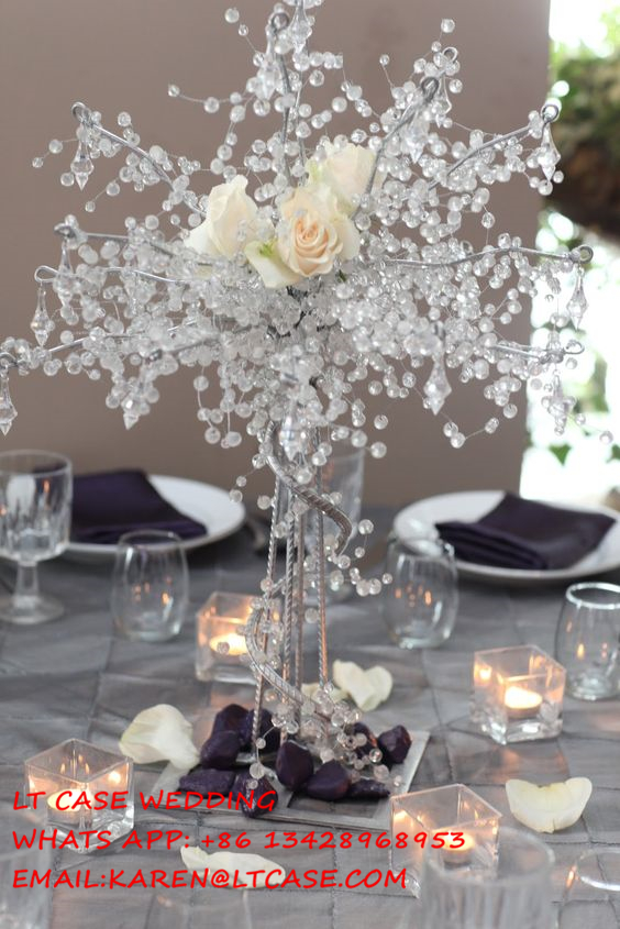 New 4 Pieces 60cm Tall Acrylic Crystal Wedding Tree