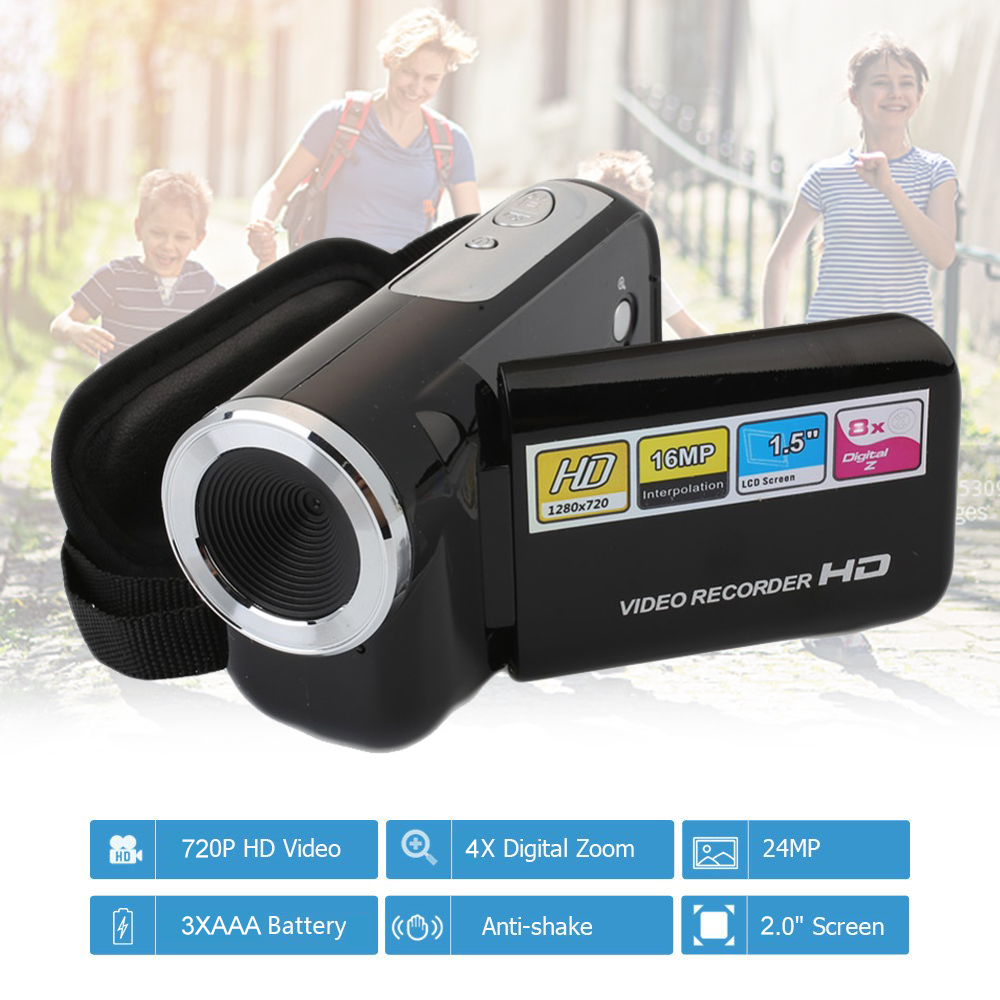 2 Inch Digital Camcorde Camera Portable <font><b>Video</b></font> Recorder 4X Digital Zoom Display 16 Million Home Outdoor <font><b>Video</b></font> Recorder Home Use image