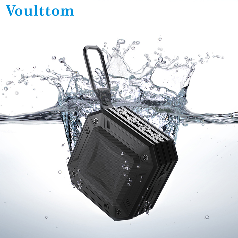 Voulttom Portable Waterproof Bluetooth Speaker Wireless Loudspeakers MP3 Radio Player FM Reciver Outdoor design Boombox aux mini portable fm radio pocket mp3 player rechargeable tf card digital fm radio portable mp3 speaker fm receivers loudspeakers