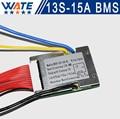 3.6 V/3.7 V celular 13 S 48 V 15A BMS Usado para 48 V 10ah 15A bateria 12ah 15ah descarga 50A pico contínua Com equilíbrio função