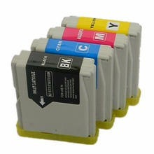цена на 4 x LC-10 LC-37 LC-51 LC-57 LC-960 LC-970 LC-1000 Ink Cartridges For Brother MFC-685CW MFC-845CW MFC-850CDN Inkjet Printer