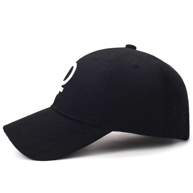 Side View of Embroidered Female Symbol Baseball Cap