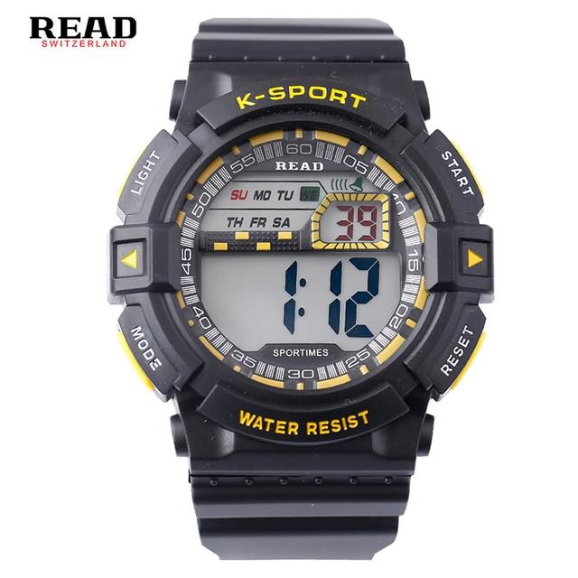 22a46f5d775 LEIA top nova marca dos homens Do Esporte Militar Relógios Round Dial Grande  Balança Digital Analógico