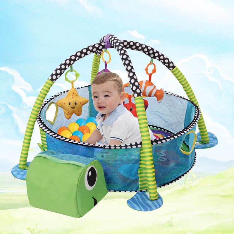 Enfants tortue prévenir uriner jeu Pad océan la boule piscine bébé ramper Pad pluie forêt jeu musculation cadre