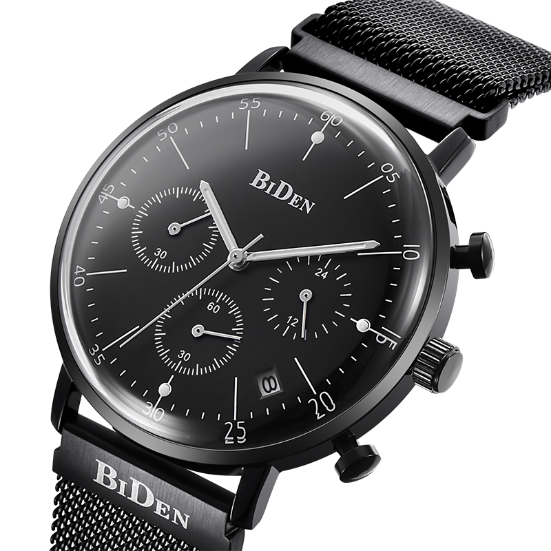 Biden Luxury Men Watches Multi Time Zone Casual Quartz Wrist Watch Men Mesh Stainless Steel relogio masculino bayan kol saati goznak набор для квиллинга бумага 300 5мм медиум моно красный qzv m 100 5r