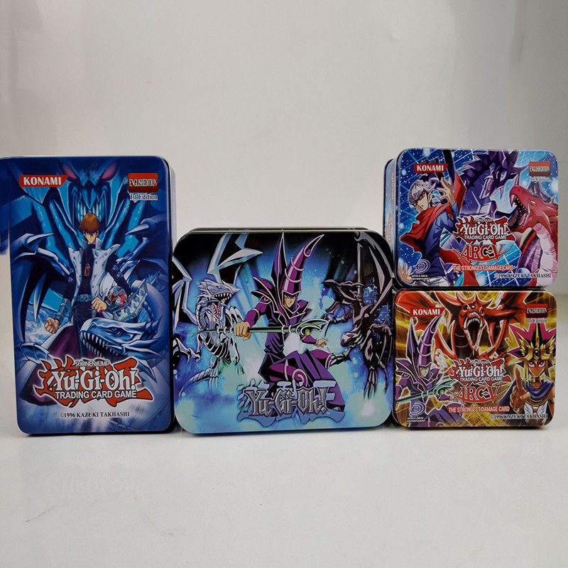 Yu Gi Oh Cards Egyptian God Collectible Toys for Boy Free Yu-gi-oh Metal Box Figures Japan Legendary Board Game Cartas
