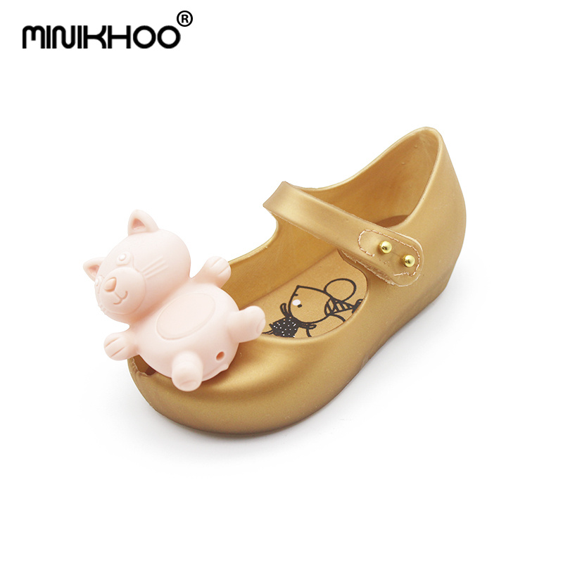 Mini Melissa Cute Bear Sandal 2018 New Animal Baby Shoes Mini Melissa Jelly Sandals Girl Non-slip Kids Melissa Sandal Toddler