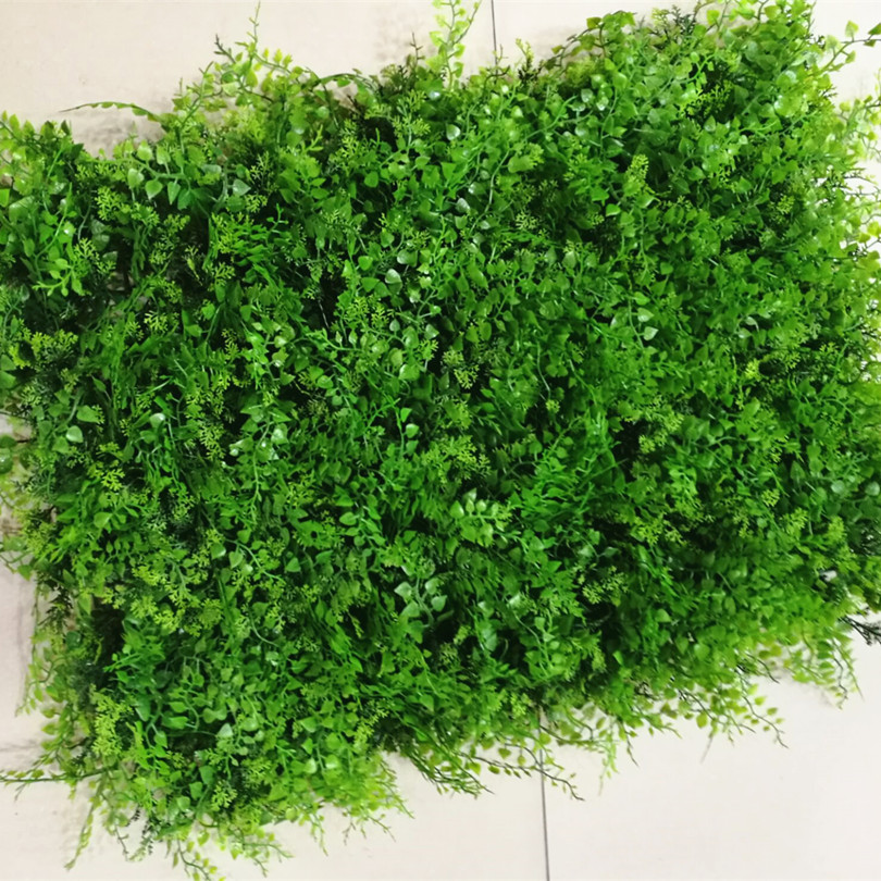 10pcs Plastic Wild Grass Design Turf 60cmX40cm Thick Grass Lawn for Greenery Wall Supermarket Shop Background Decorations