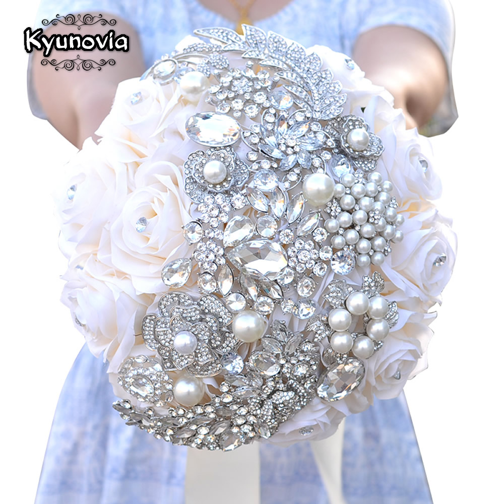 wedding bouquet pins kyunovia touch roses brooch bouquet 8476