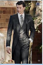Latest Coat Pant Designs Italian Black Tailcoat Men Suit Jacket Prom Style Blazer Slim Fit Custom 3 Piece Groom Tuxedo Ternos