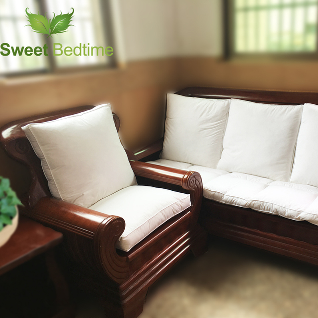 Custom Made Duck Down Feather Sofa Cushion Inserts Back Inner Seat Floor Mat Bay Window Tatami 55 Couch Pillows Core