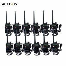 12 pcs Talkie Walkie Retevis RT-5R 5 W VHF UHF Double Bande Double Affichage VOX Jambon Radio HF Émetteur-Récepteur Portable Walk Talk