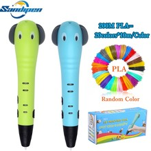 Sandipen Newest 3D Pen Painting Cartoon Drawing Pens Creative Kids Toy Education Gift Pencil Free PLA P6500