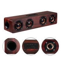 4 Horns High Power Wood Wireless Bluetooth Speaker Portable Computer Speakers 3D Loudspeakers For TV Home