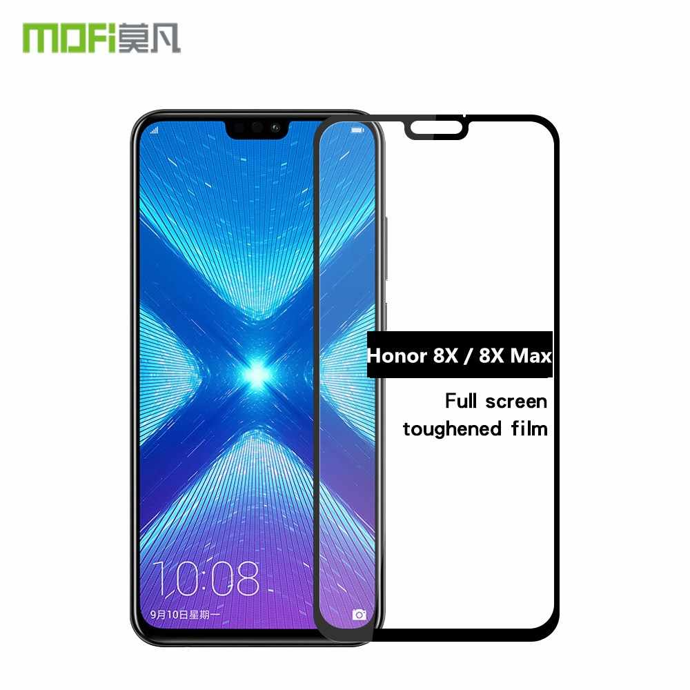 "Huawei Honor 8X Glass 6.5"" MOFi Original Honor 8X Screen Protector Full Cover Tempered Protective Film Huawei Honor 8X Max 7.12"""