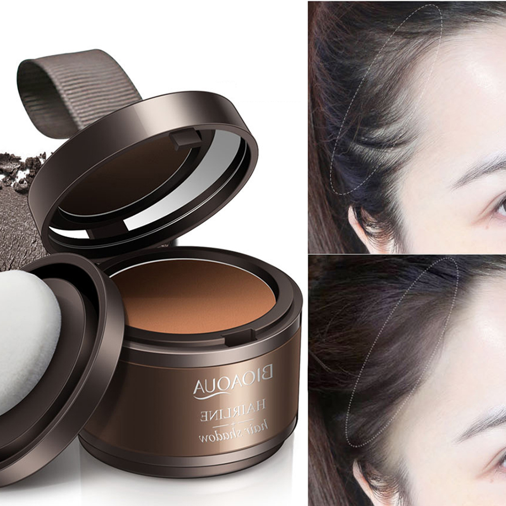 Portable Hairline Modified Shadow Powder Cover Natural Instant Hairline Shadow Hair Concealer Powder Hair Styling Makeup TSLM2
