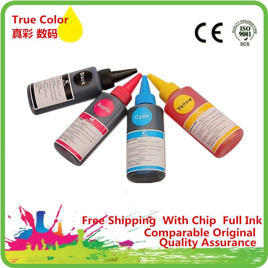 Kit de Recarga de Tinta Corante Para Epson Stylus S22 T1285 SX125 SX130 SX230 SX235W SX420W SX425W SX430W SX435 438W 440W 445W De Impressora Ciss