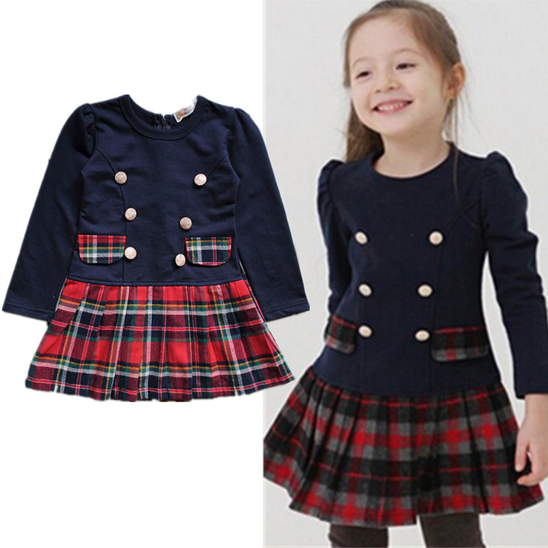 New!2016 New Spring And Autumn Children Clothes Child Clothing Plaid Long-sleeve Dresses Girls,,Kids clothes spring scenic backdrop y028 10ft x20ft hand painted muslin photography background estudio fotografico photo studio backdrop