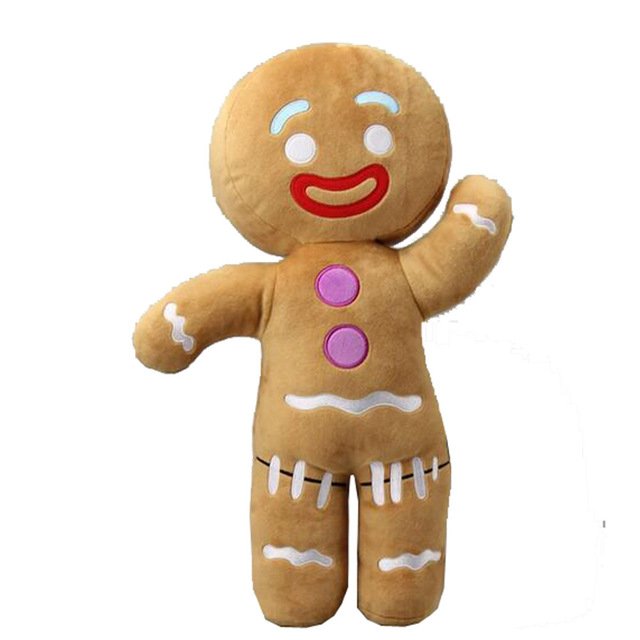 2017 Large Size 45 Cm Shrek Gingerbread Man Bigheadz Stuffed Plush