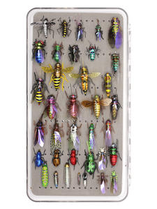 Fishing-Flies-Collection Trout Fly-Assortment Nymph with 36-Kits Dry-Wet