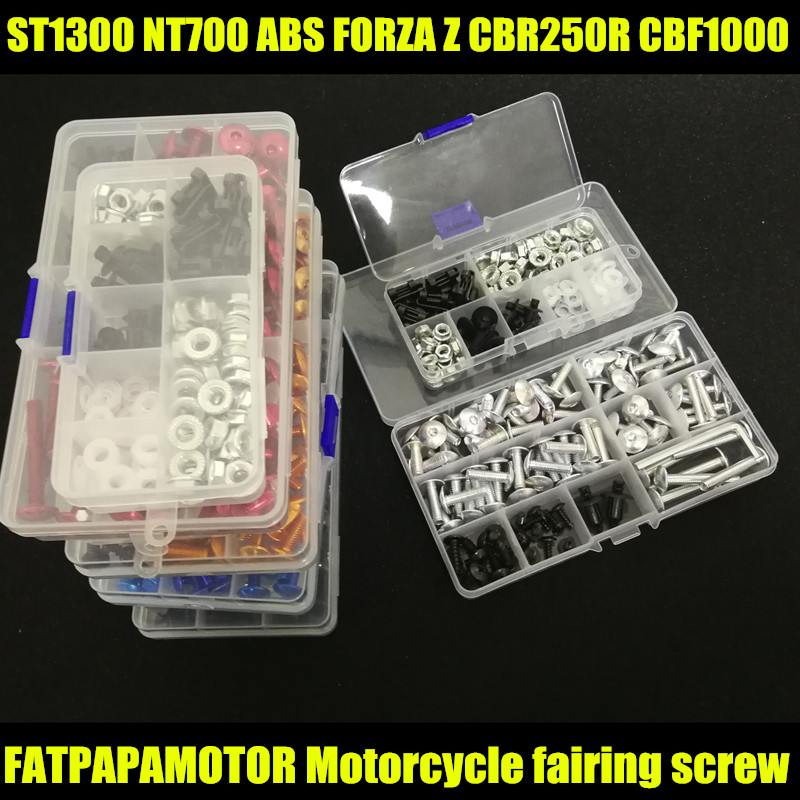 Universal Motorcycle Fairing Bolts Screw Moto Spring Bolts For <font><b>HONDA</b></font> ST1300 NT700V ABS FORZA Z CBR250R <font><b>CBF1000</b></font> image