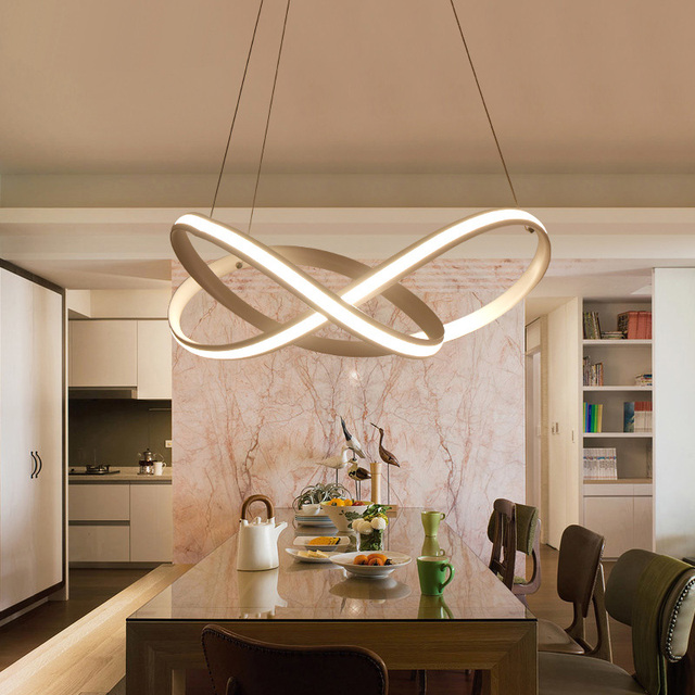 new modern spiral art led pendant lights for living room dining room led lustre pendant lamp - Living Room Pendant