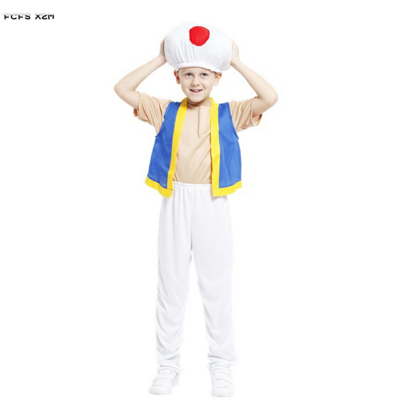 funy boys halloween game costume super mario mushroom cosplay for children kids carnival purim stage play masquerade party dress in boys costumes from
