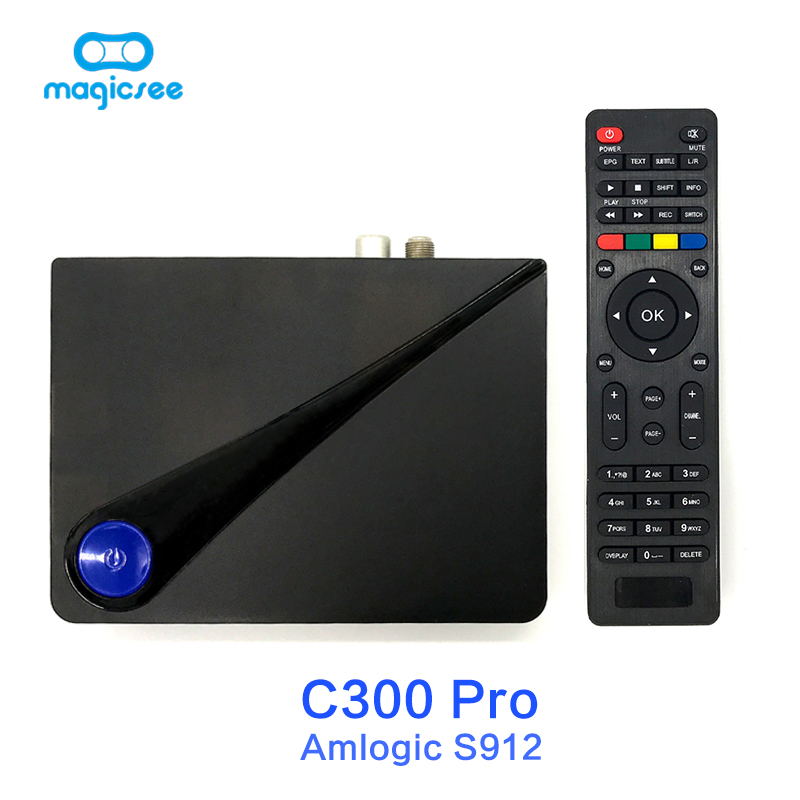 Magicsee C300 Pro Amlogic S912 Octa Core TV Box 2+16GB Android 4K Smart TV Box DVB-S2 DVB-T2 Cable 2.4G WiFi Smart Media Player