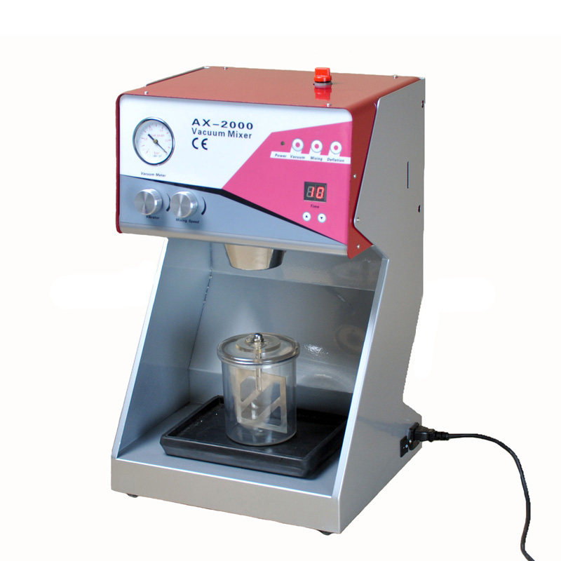 AX-2000C Dental laboratory equipment plasters investments Vacuum mixer vacuum mixing machine
