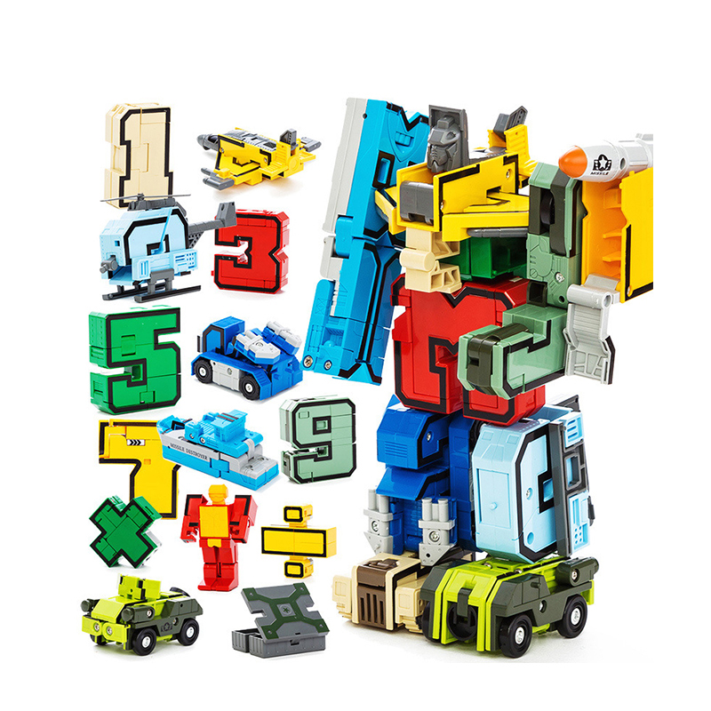 Math Letters Toy Digital Building Blocks Assembly Deformation Robot Building Blocks  Educational Toys for Childern parallel digital pcb microcontroller module blank board robot electronic building blocks 3 pcs