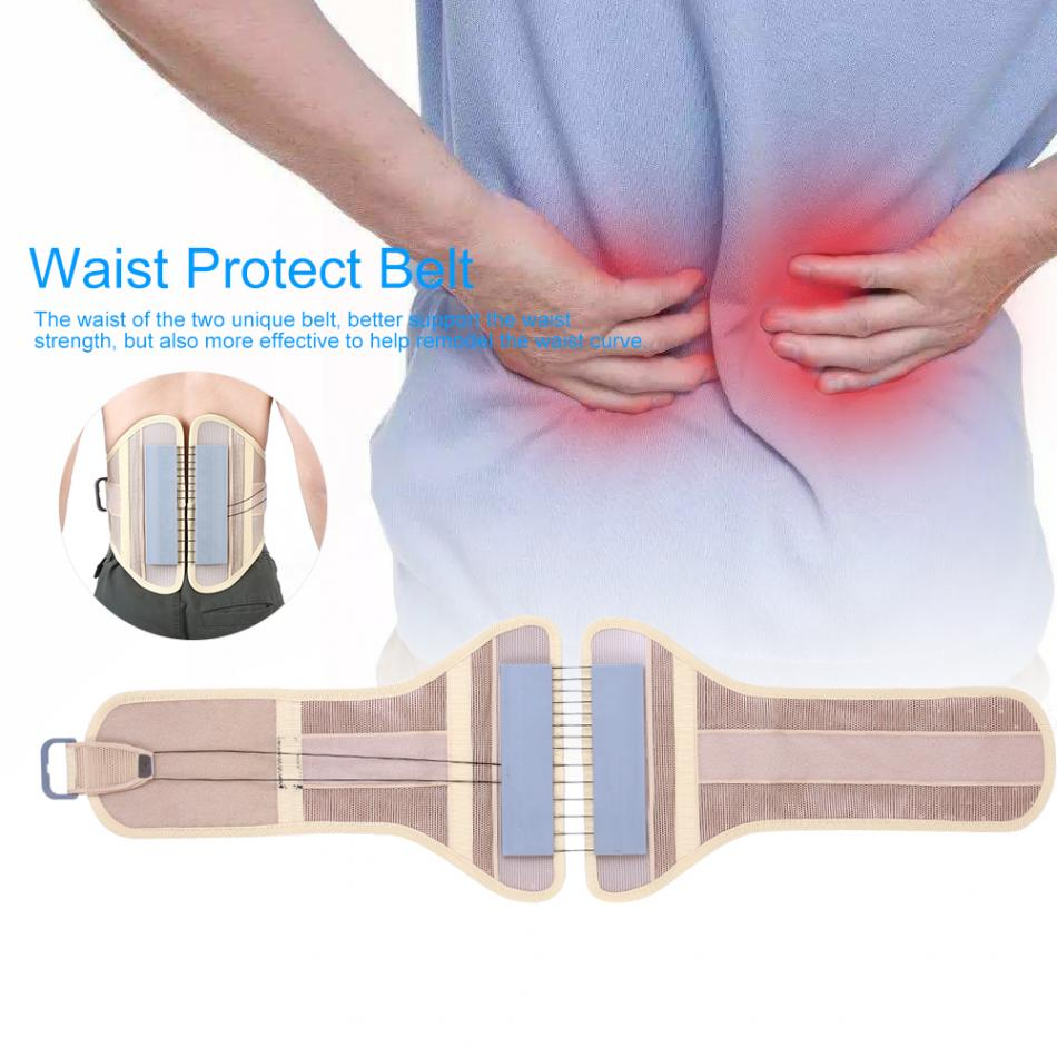 Breathable Men Lower Back Support Protection Belt Body Waist Medical Abdomen Fixed Support Belt Lumbar Protector Corset