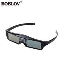 9525e2684cfb9 BOBLOV KX-30 3D Óculos de Obturador Ativo DLP Link-144Hz 8 M Recarregável