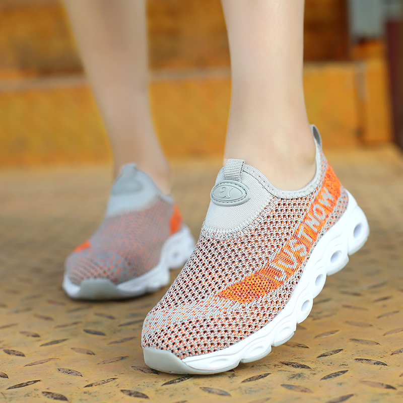 Children Casual Shoes Girls Sneaker For Running Boys Casual Shoes Outdoor Anti Slippery Fly Knit Kids Socks Shoe Sneaker 4 14Y