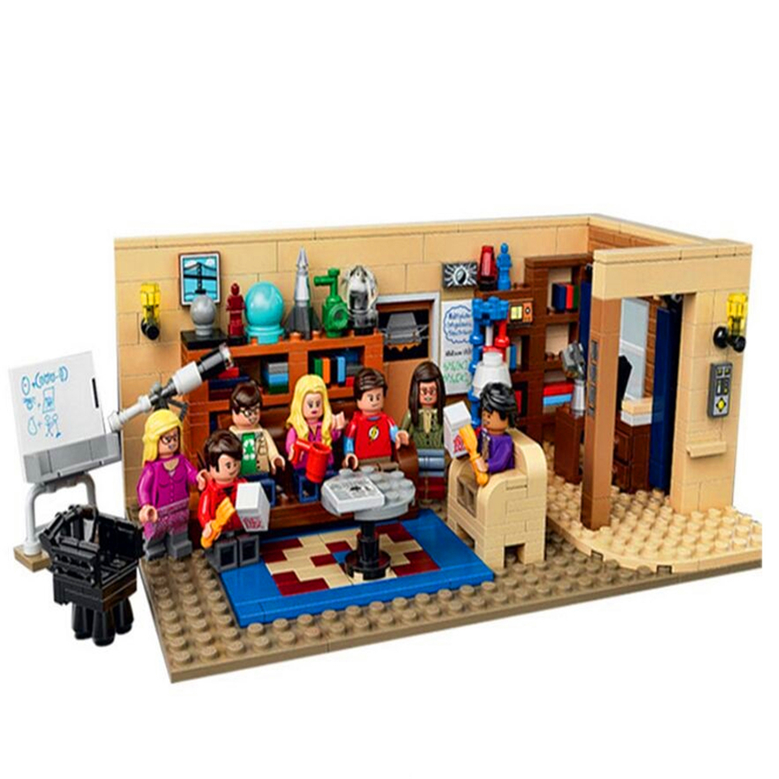 16024 LEPIN IDEAS Series The Big Bang Theory Model Building Block Toys Enlighten Action Figure For Children Compatible Legoe 16018 lepin lord of the rings the ghost pirate ship model building blocks enlighten figure toys for children compatible legoe