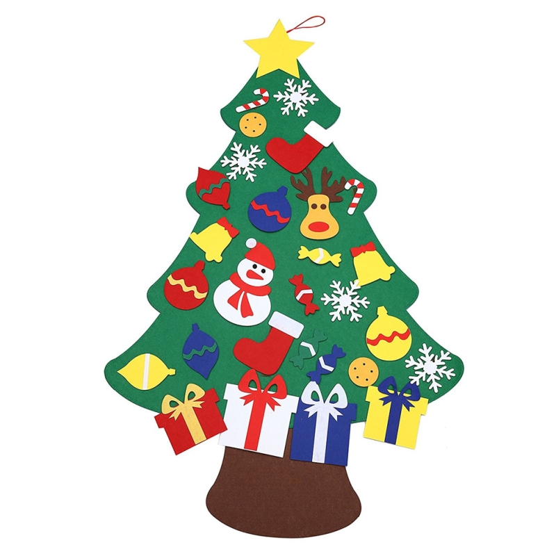 Kids Diy Felt Christmas Tree With Ornaments Kid S Christmas Toys