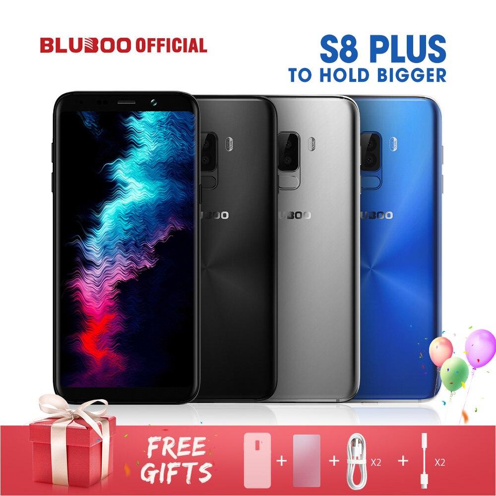 BLUBOO S8 Plus 18:9 Écran 6.0 ''Mobile Téléphone MTK6750T Octa Core 4G RAM 64G ROM 360 OS Double Retour Caméra D'empreintes Digitales Smartphone