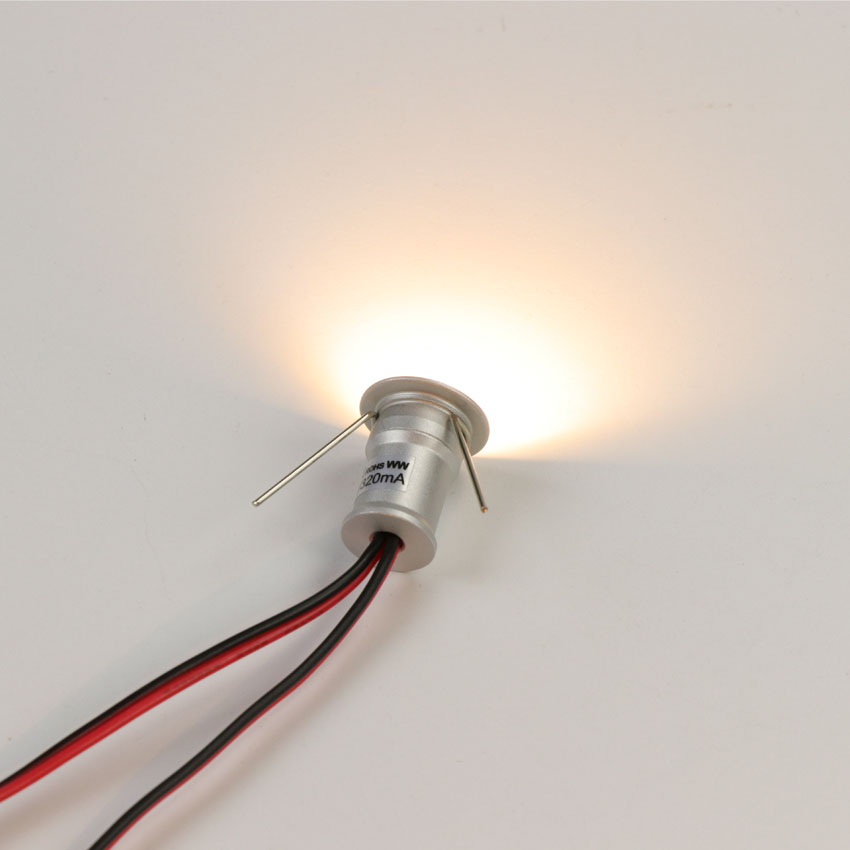 9 pcs 1 w LED Cabinet Éclairage Dimmable Mini LED Lumières Pour La Maison Comptoir De Cuisine Placard Escalier Encastré Mur Socle spot Éclairage