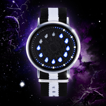 Saint Seiyas Constellation LED Watch 12 Zodiac Signs Theme Waterproof Wrist Watches Virgo Taurus Leo Christmas Gift 1