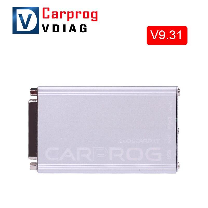 Цена за 2017 Carprog V7.28 Carprog Обновление V9.31 Полный Последней Версии (Все 21 Пунктов Адаптеры) профессиональный CAR PROG Программатор
