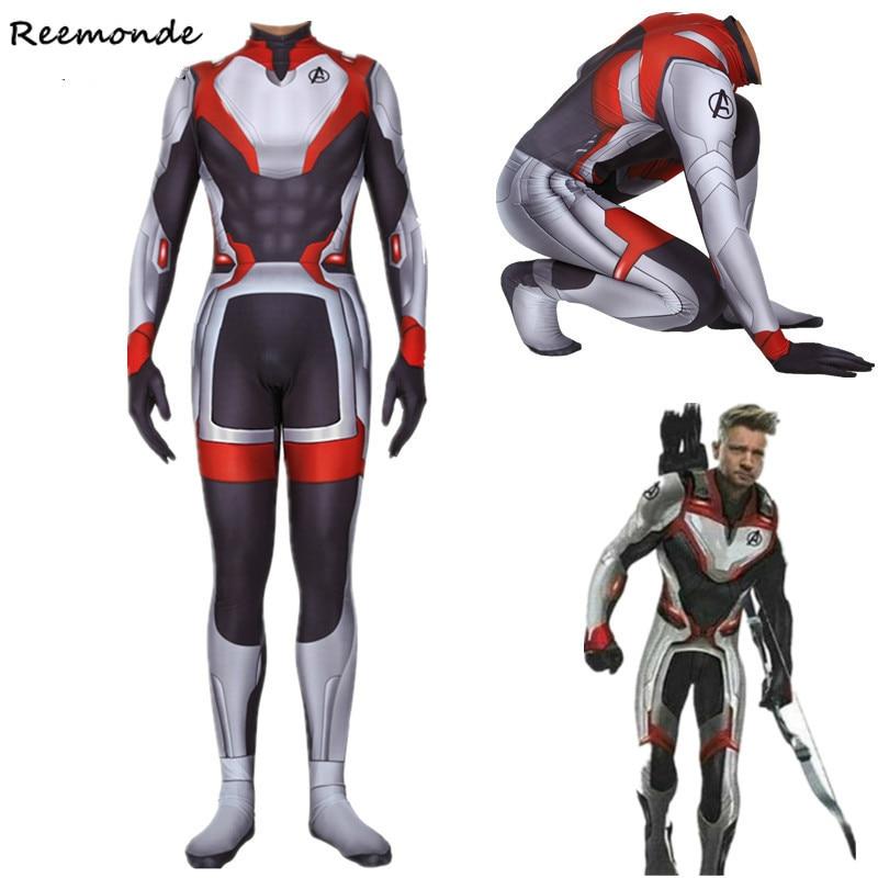 Avengers Endgame Captain America Cosplay Costume Quantum Realm Superhero Iron Man Zentai Bodysuit Jumpsuit Customized Adult Kids