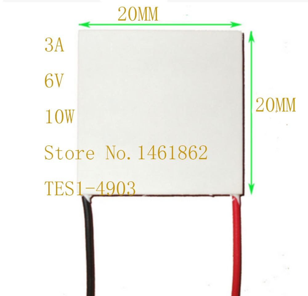TES1-4903 20*20MM Refrigeration piece for industrial grade laser instrument Small and micro electronic components cooling plate industrial refrigeration piece tec1 12715 40 40 mm environmental protection science and technology innovation